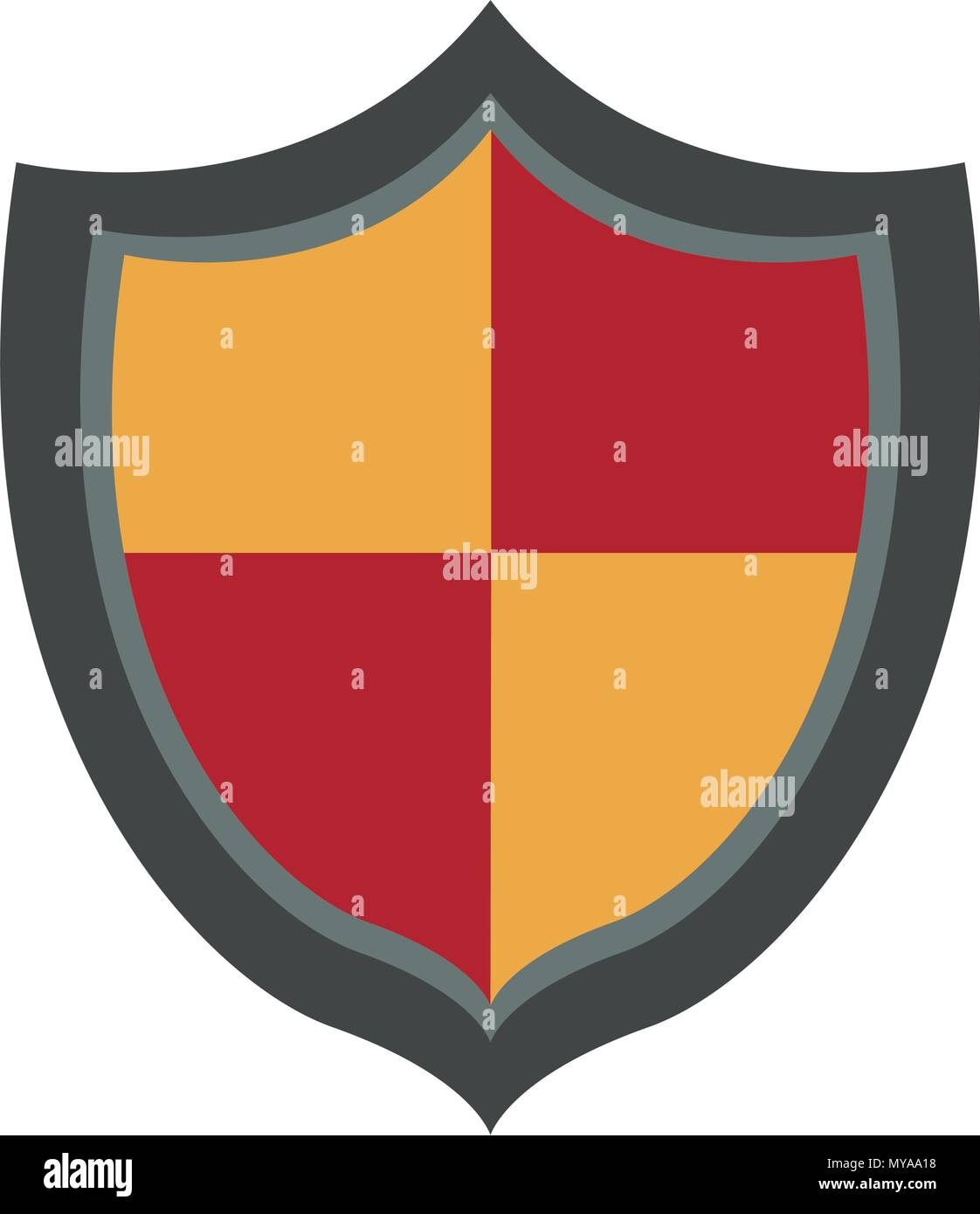 Shield antivirus symbol - Stock Image
