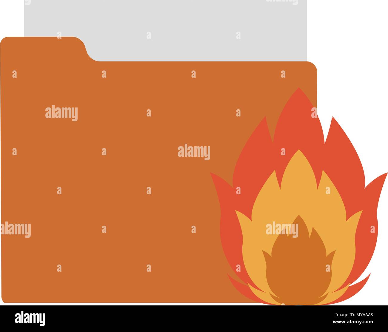 Folder with flamme - Stock Image