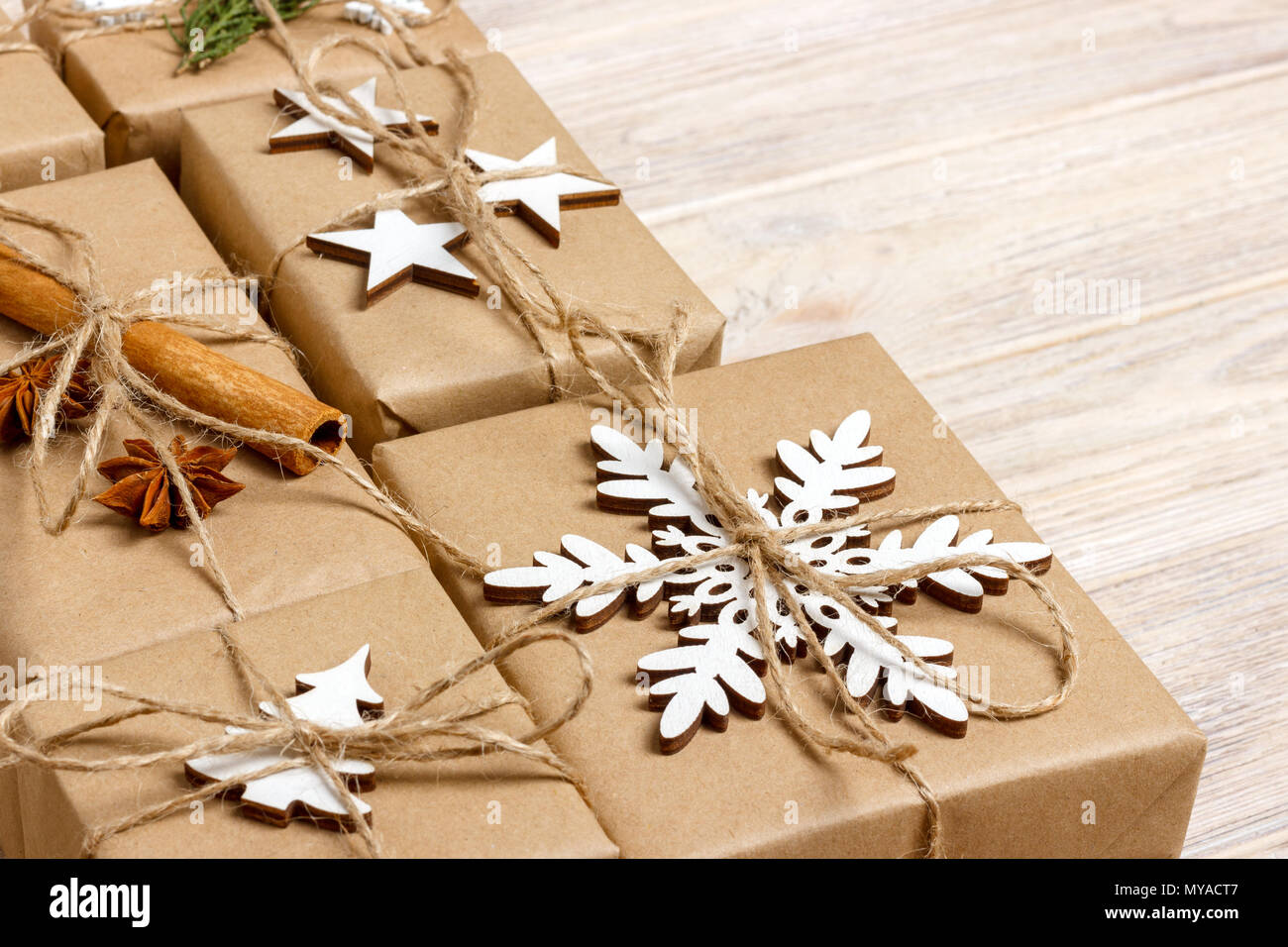 handmade craft christmas gifts or new year rustic presents gifts on ...