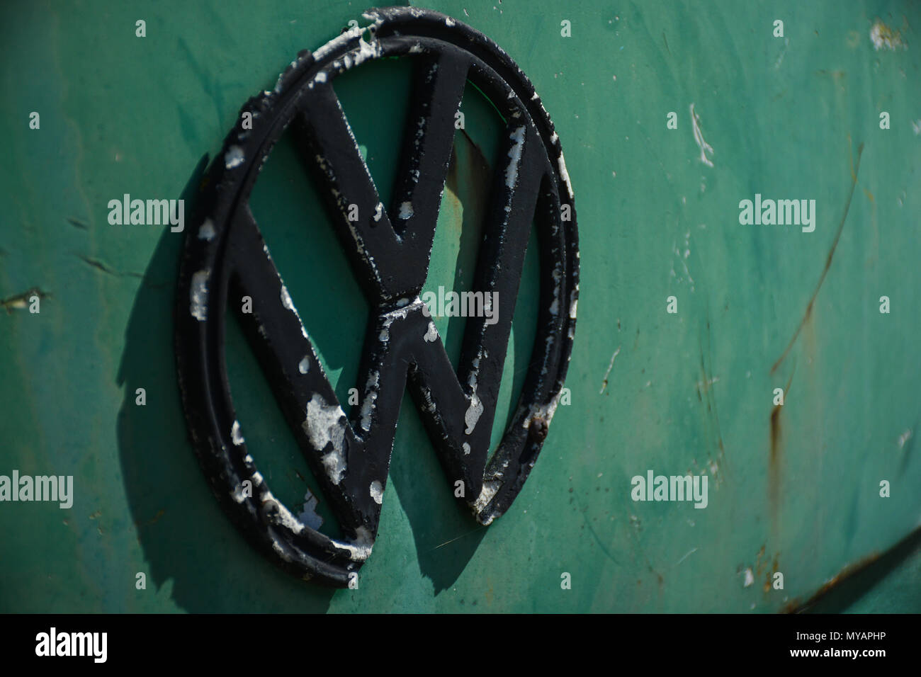 Rusty VW oldtimers. - Stock Image