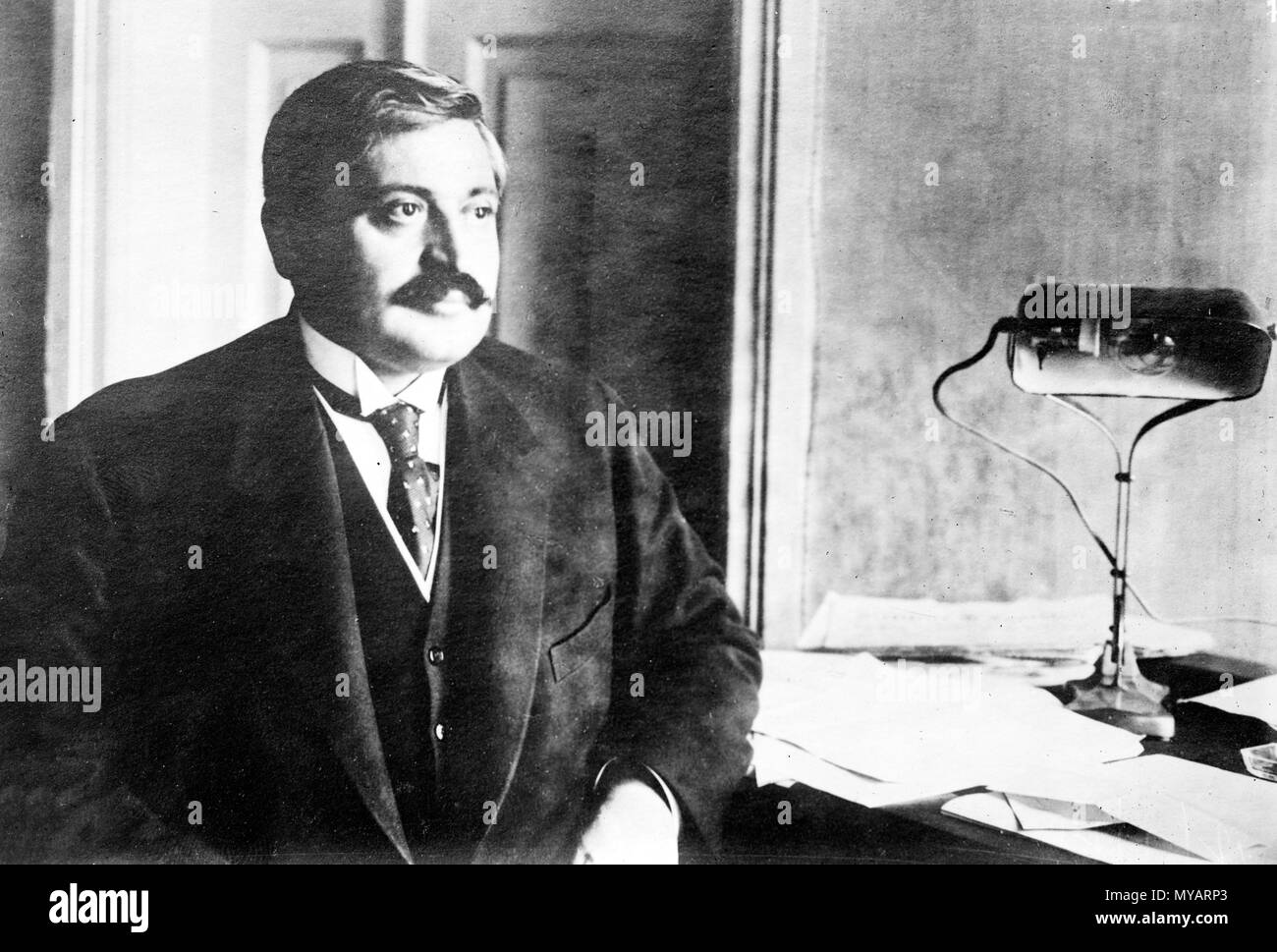 Talaat Pacha, Mehmed Talaat (1874 – 1921), Talaat Pasha, one of the triumvirate known as the Three Pashas that de facto ruled the Ottoman Empire during the First World War - Stock Image