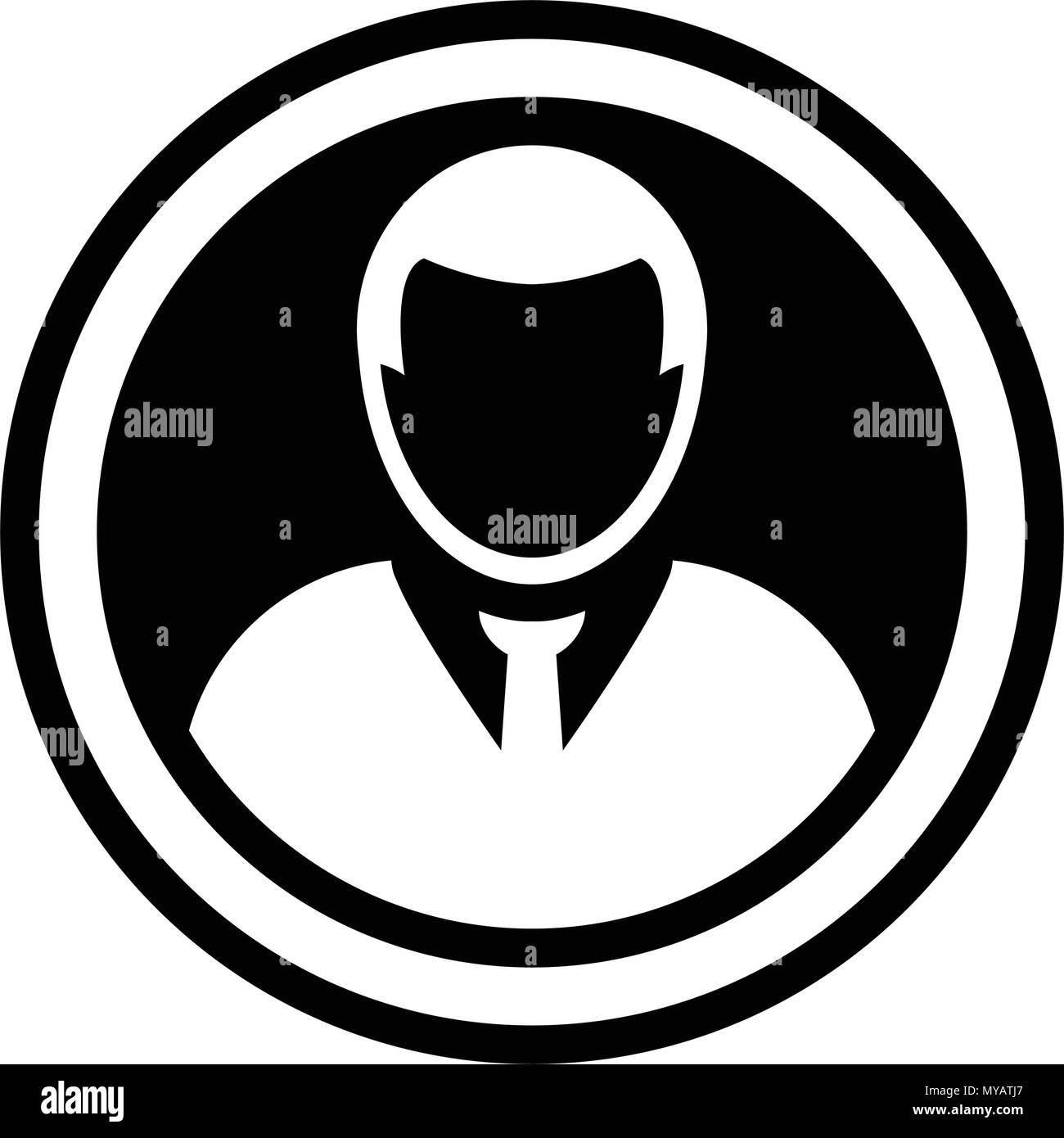 Avatar Icon Vector Male Person Symbol Circle User Profile Avatar