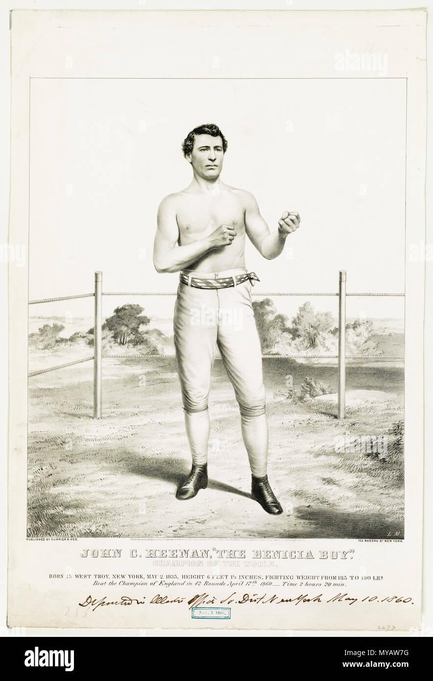 John C. Heenan, The Benicia Boy - champion of the world c 1860 - Stock Image