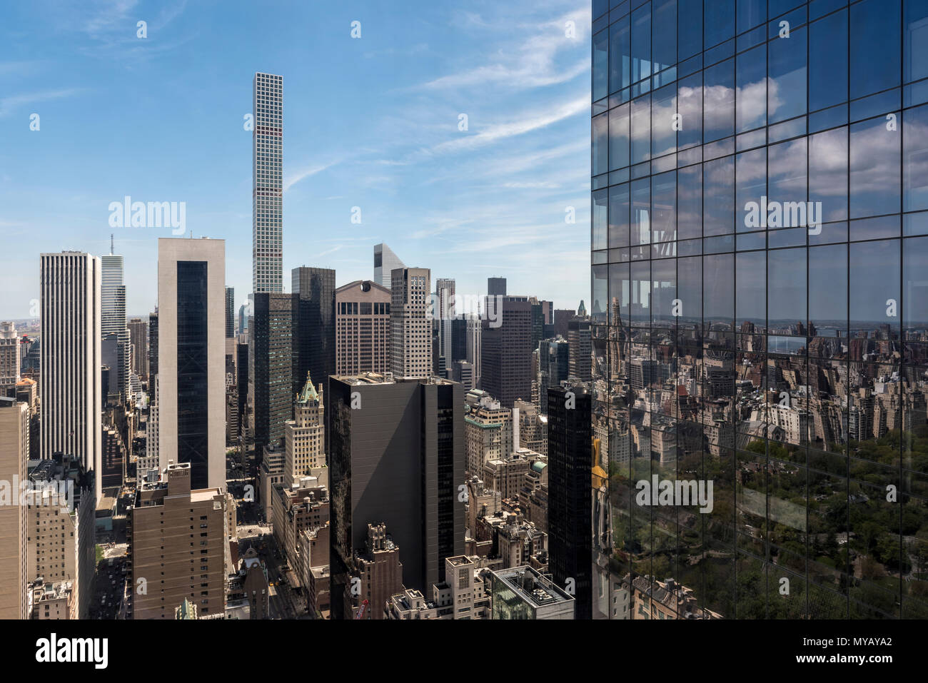 'Cityscape with skyscrapers in New York City, USA' - Stock Image