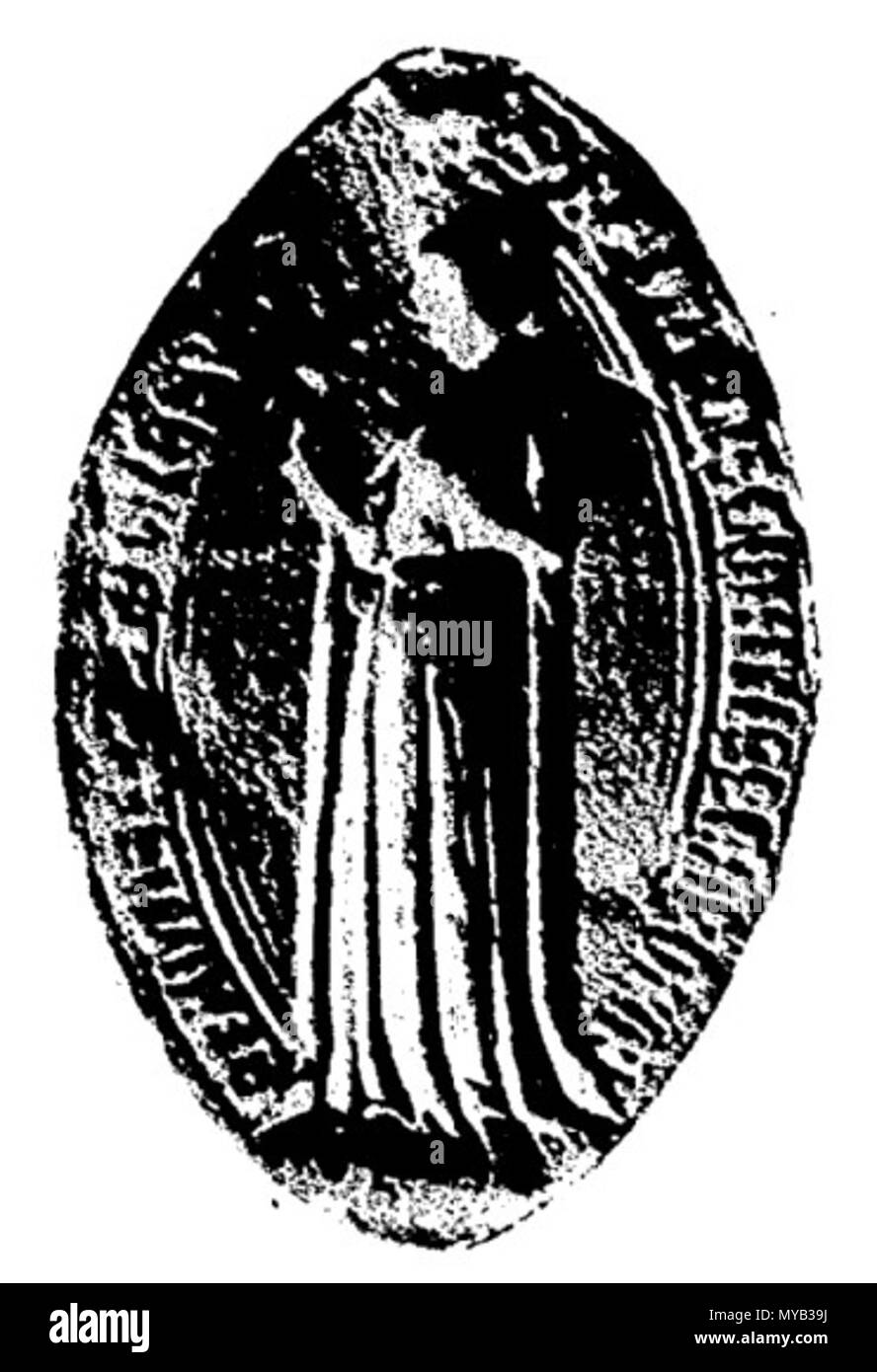 . Français: Béatrice de Montfort (1311) . 1910. André Rhein 68 Beatrix Montfort - Stock Image