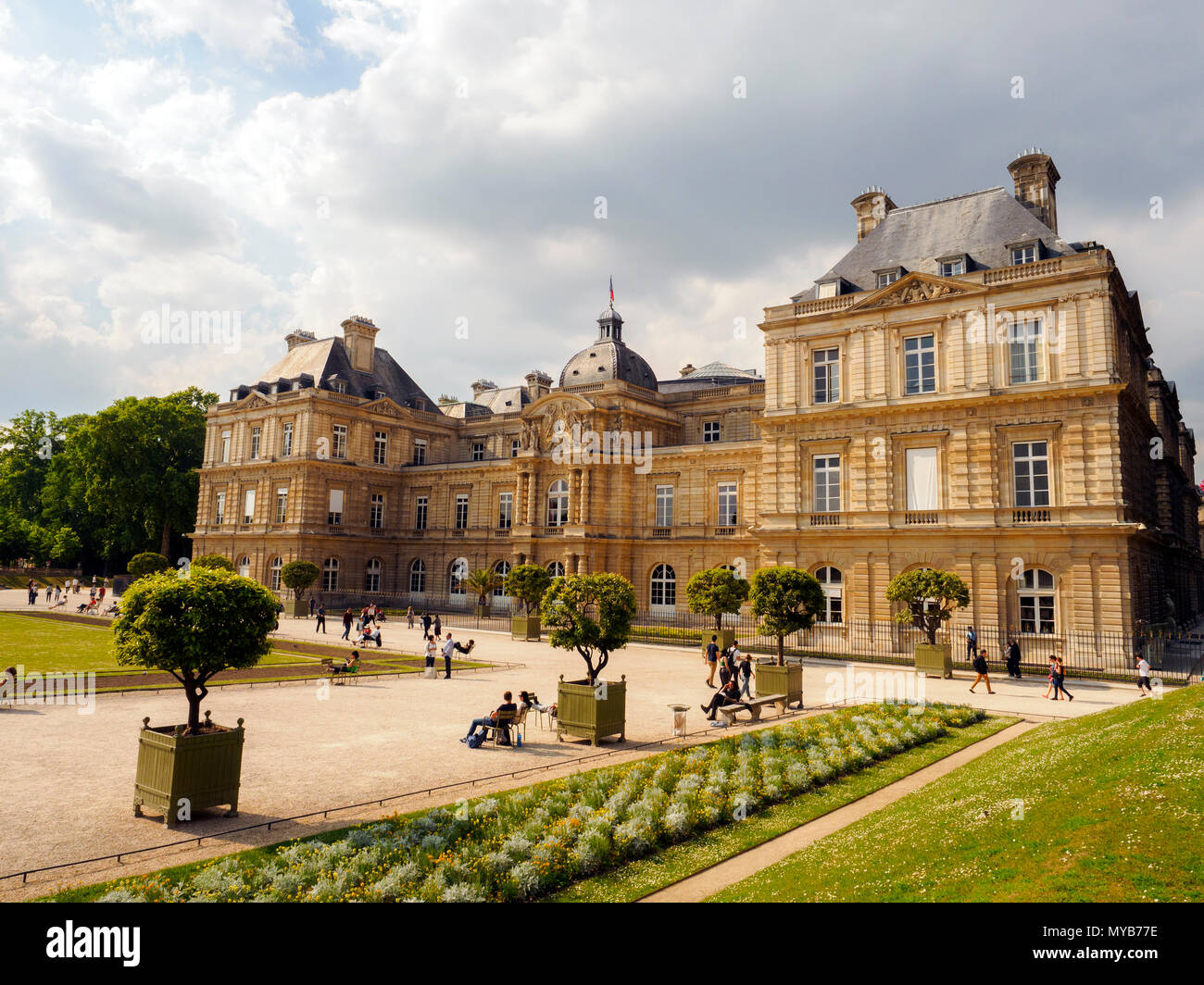 Luxembourg Palace in the Luxembourg Gardens home of the French ...