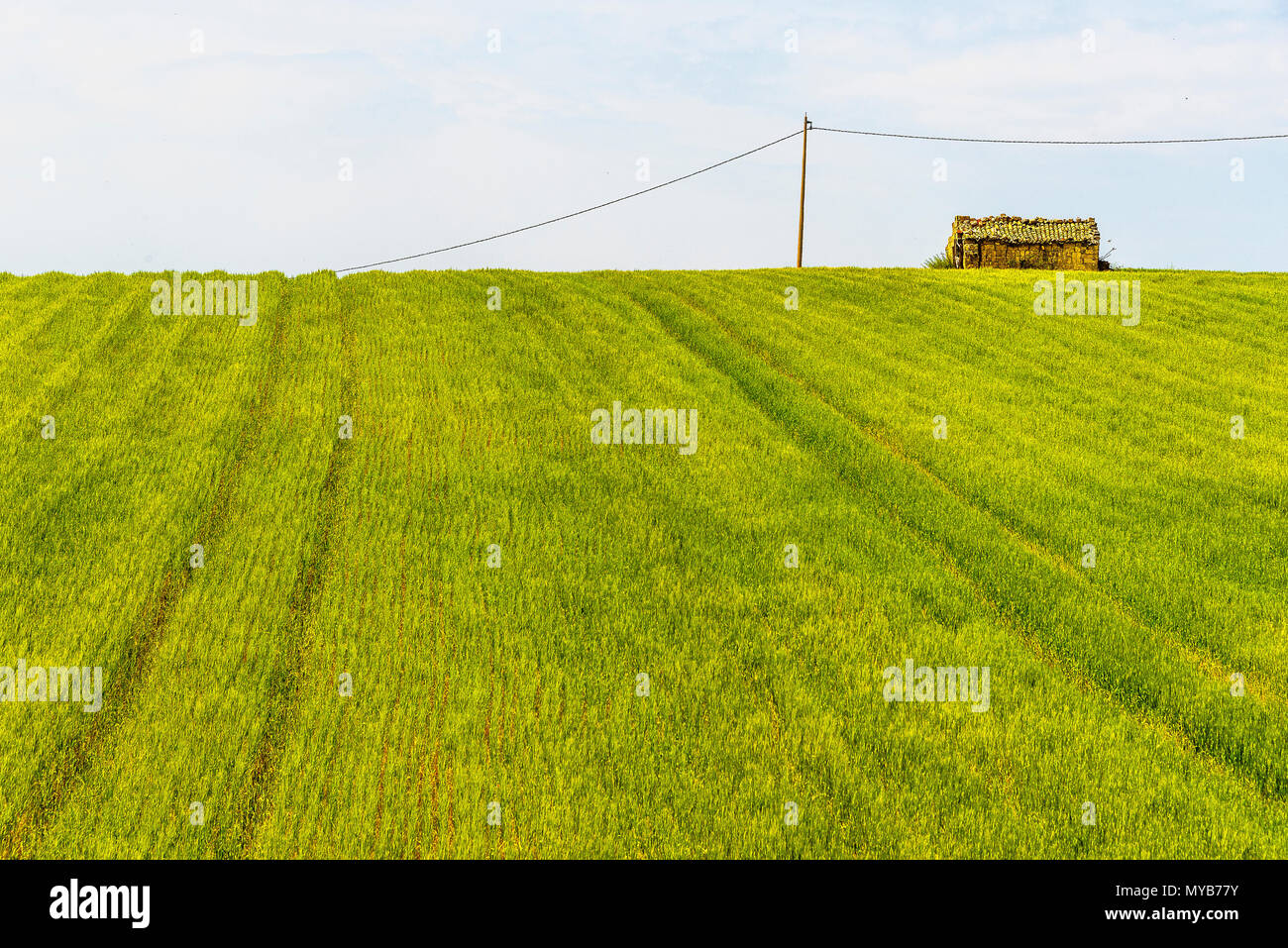 Basilicata countryside sceneries during the spring season - Stock Image