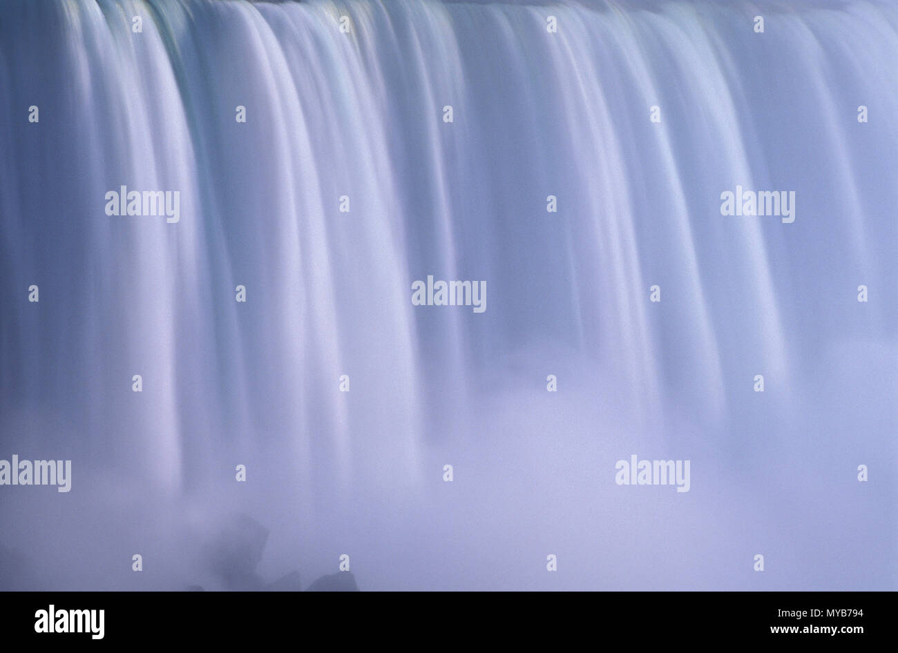 Niagara Falls, detail of the American Falls at dusk, capturing the sublime power, NY, USA - Stock Image