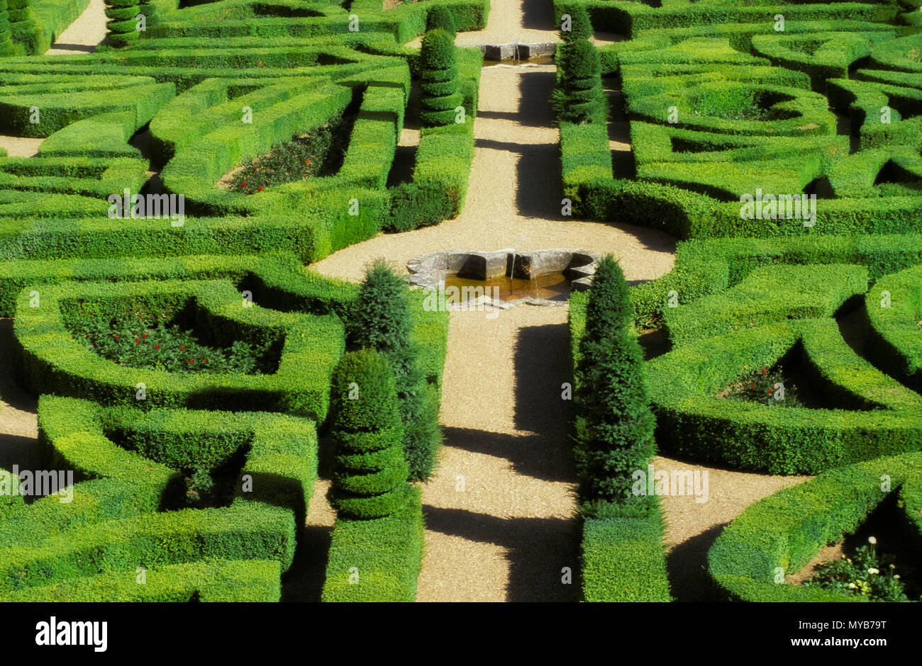 Boxwood Parterre Garden Stock Photos & Boxwood Parterre Garden Stock on