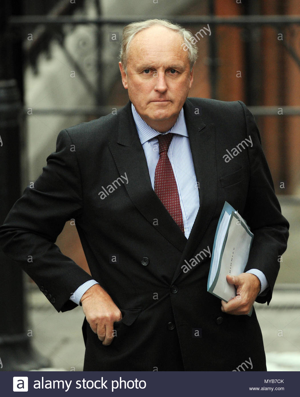 """File photo dated 9/2/2012 of Paul Dacre who has been appointed chairman and editor-in-chief of Associated Newspapers, in a move which will see him """"step back"""" from his role as editor of the Daily Mail from November, the paper's owners DMGT have said. - Stock Image"""