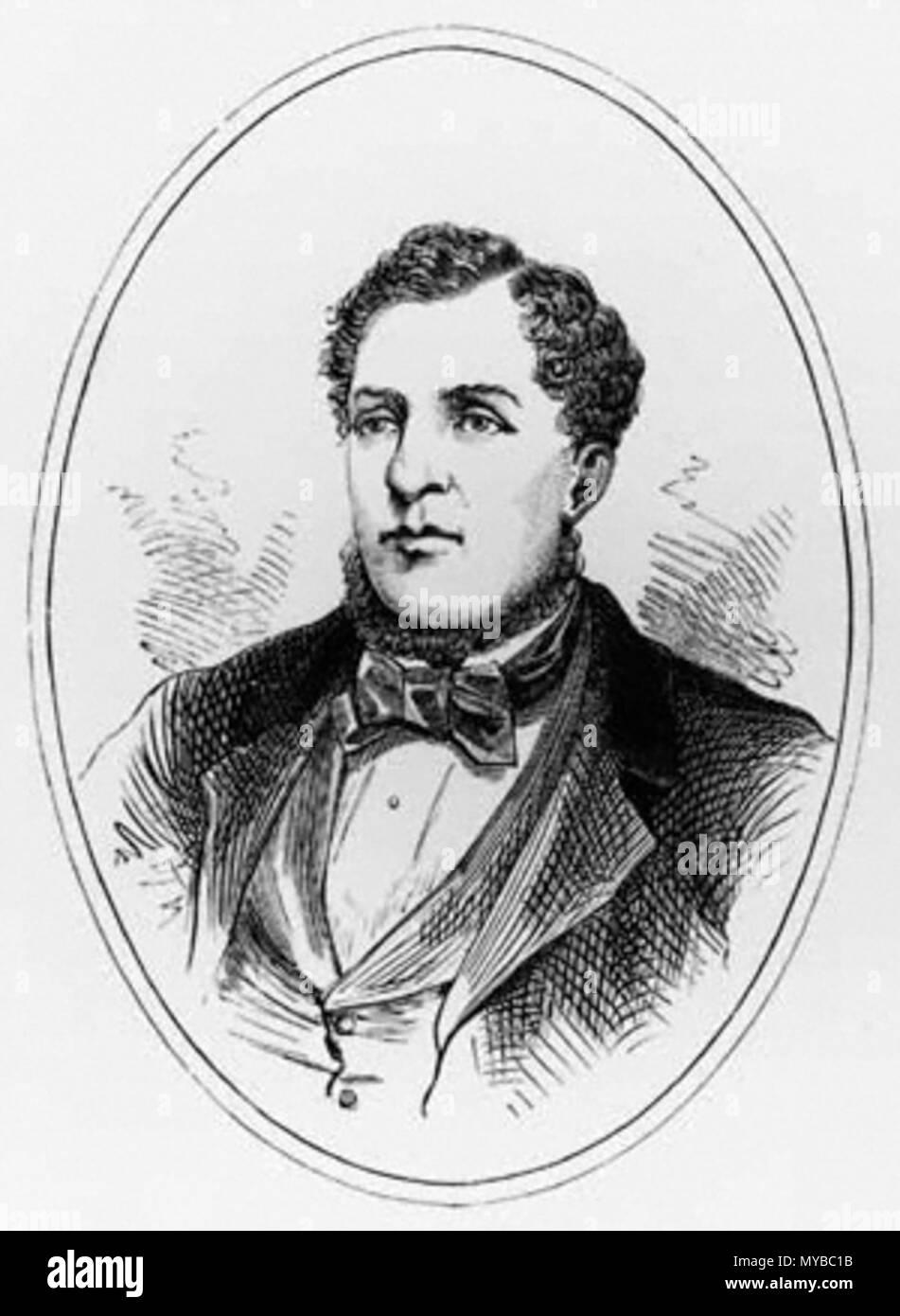 . Portrait of Ben Caunt . 1850s. Unknown 70 BenCaunt Stock Photo