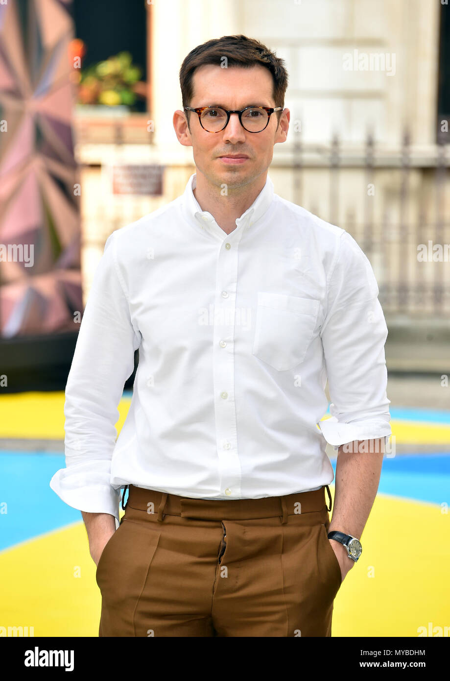 Erdem Moralioglu arriving for Royal Academy of Arts Summer Exhibition Preview Party 2018 held at Burlington House, London. - Stock Image