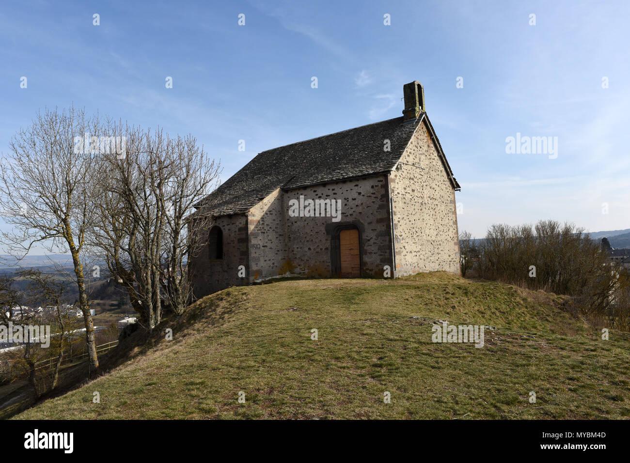Chapelle du calvaire Saint-Flour in the Auvergne region of France - Stock Image