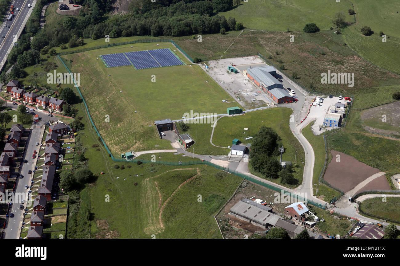 some sort of underground storage facility near Bolton, UK - Stock Image
