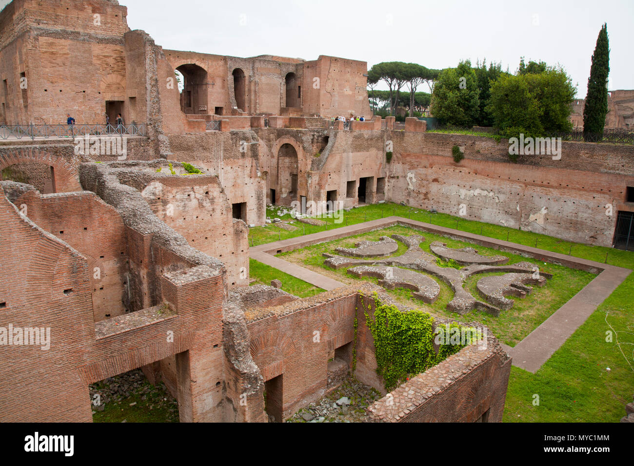 May 11, 2016: Rome, Italy- the famous gardens in the roman ruins of ...