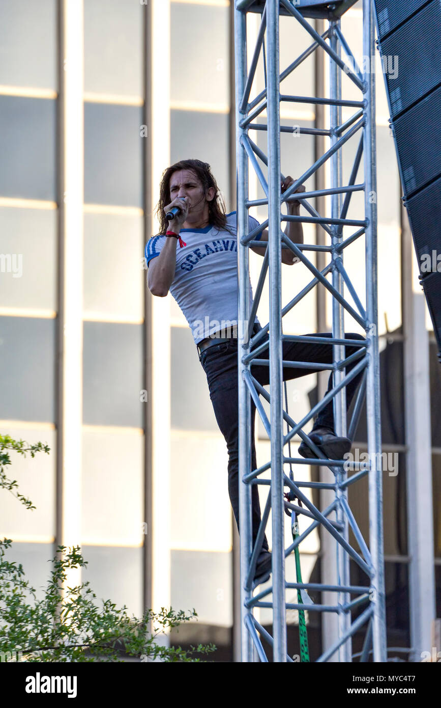 Las Vegas Nevada, April 21, 2018 – Joyous Wolf performing on day 2 of the second annual Las Rageous heavy metal music festival - Stock Image