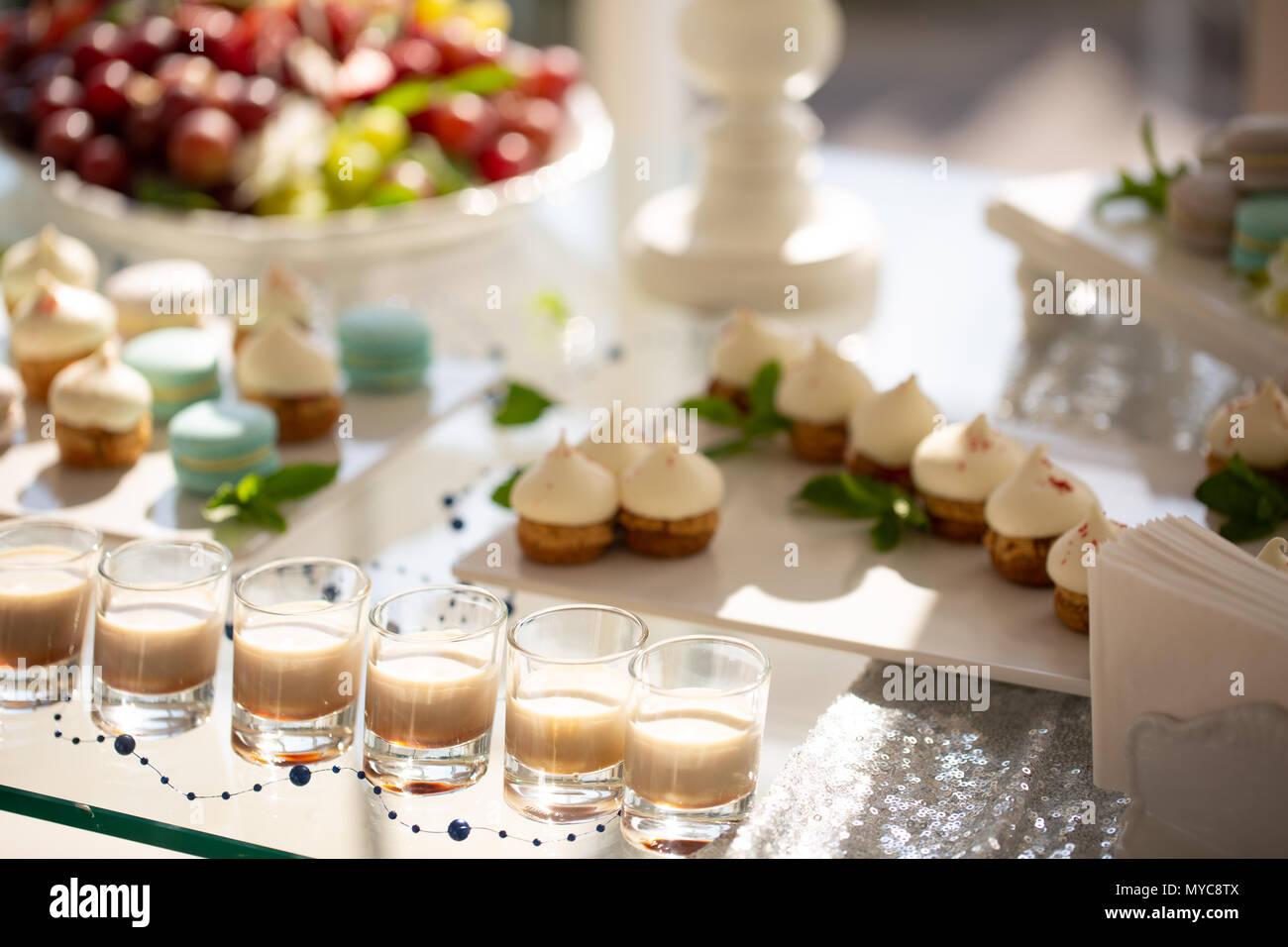 Baileys Liqueur In Glass On Festive Table Bar Alcohol Cocktail Menu