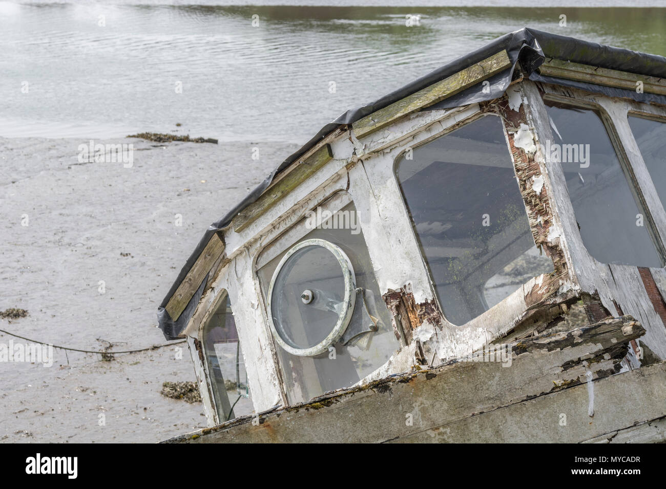 Old boat which has been better days. - Stock Image