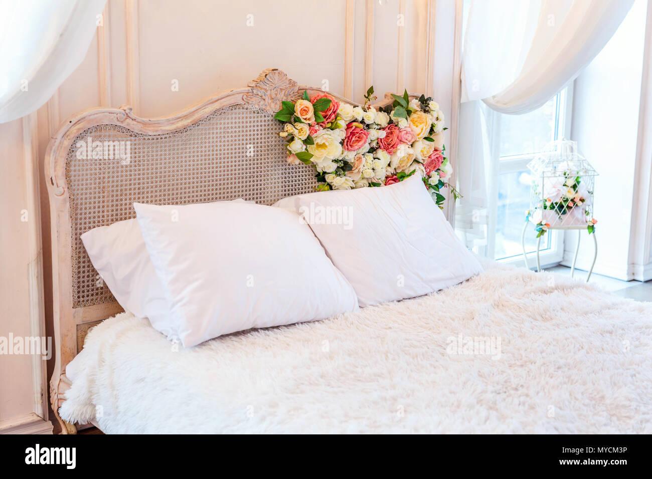 Astonishing Beautiful Luxury Classic White Bright Clean Interior Bedroom Home Interior And Landscaping Eliaenasavecom
