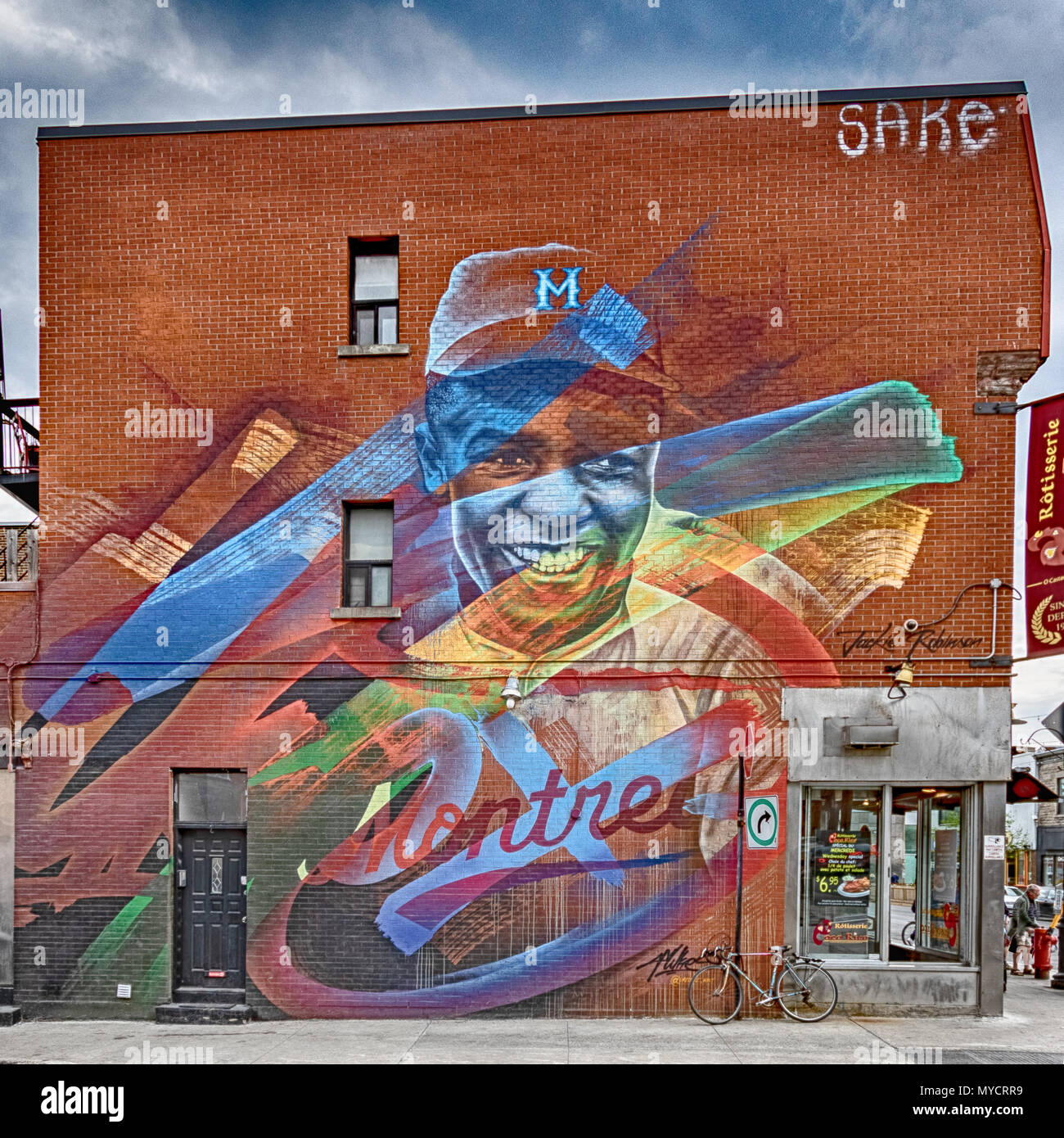 Abstract Graffiti in Montreal. - Stock Image
