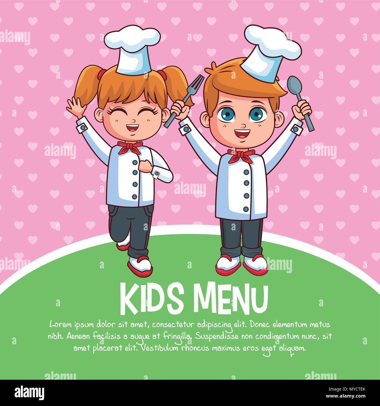 kids menu template stock vector art illustration vector image