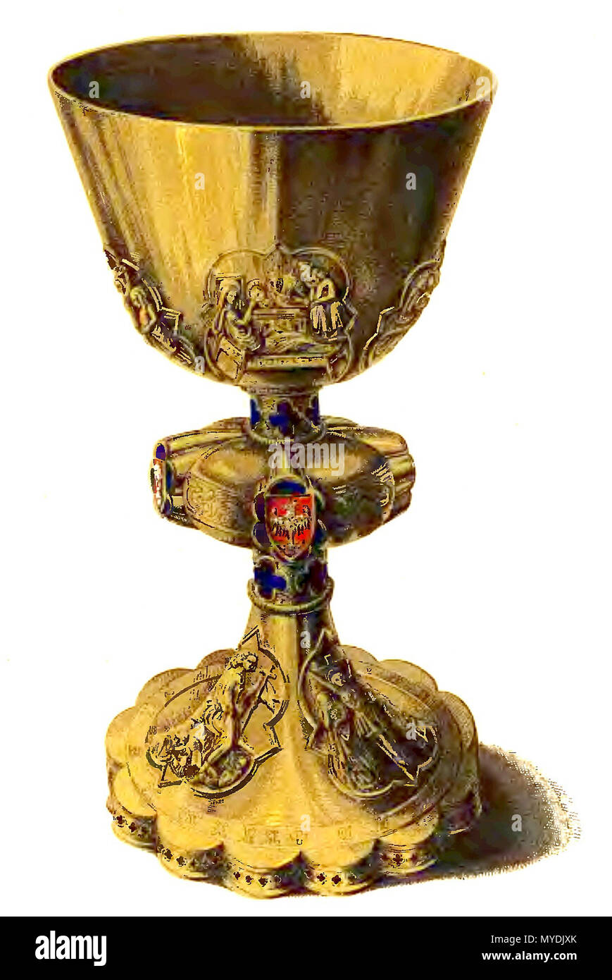 . Stopnica chalice f XIV century founded by Casimir III of Poland . 19th century. Maksymilian Fajans 148 Dtopnica chalice - Stock Image