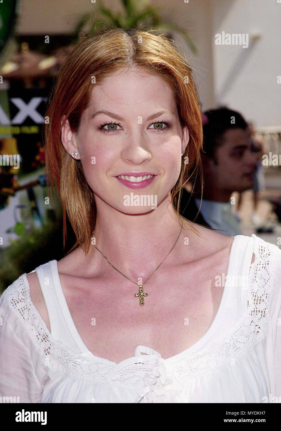 01 Oct 2000, Los Angeles, California, USA --- Jenna Elfman at the 3 Dimensions Imax Feature of the animated 'Cyberworld 3D'. 10.1.00-Los Angeles, CA --- Image by © . / USAJenna Elfman 074 Red Carpet Event, Vertical, USA, Film Industry, Celebrities,  Photography, Bestof, Arts Culture and Entertainment, Topix Celebrities fashion /  Vertical, Best of, Event in Hollywood Life - California,  Red Carpet and backstage, USA, Film Industry, Celebrities,  movie celebrities, TV celebrities, Music celebrities, Photography, Bestof, Arts Culture and Entertainment,  Topix,  vertical, one person, inquiry tsun - Stock Image