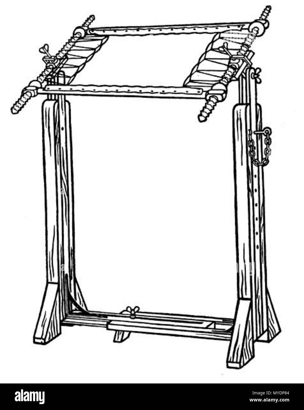 Drawing of a free-standing embroidery frame . 1912. Grace Christie ...