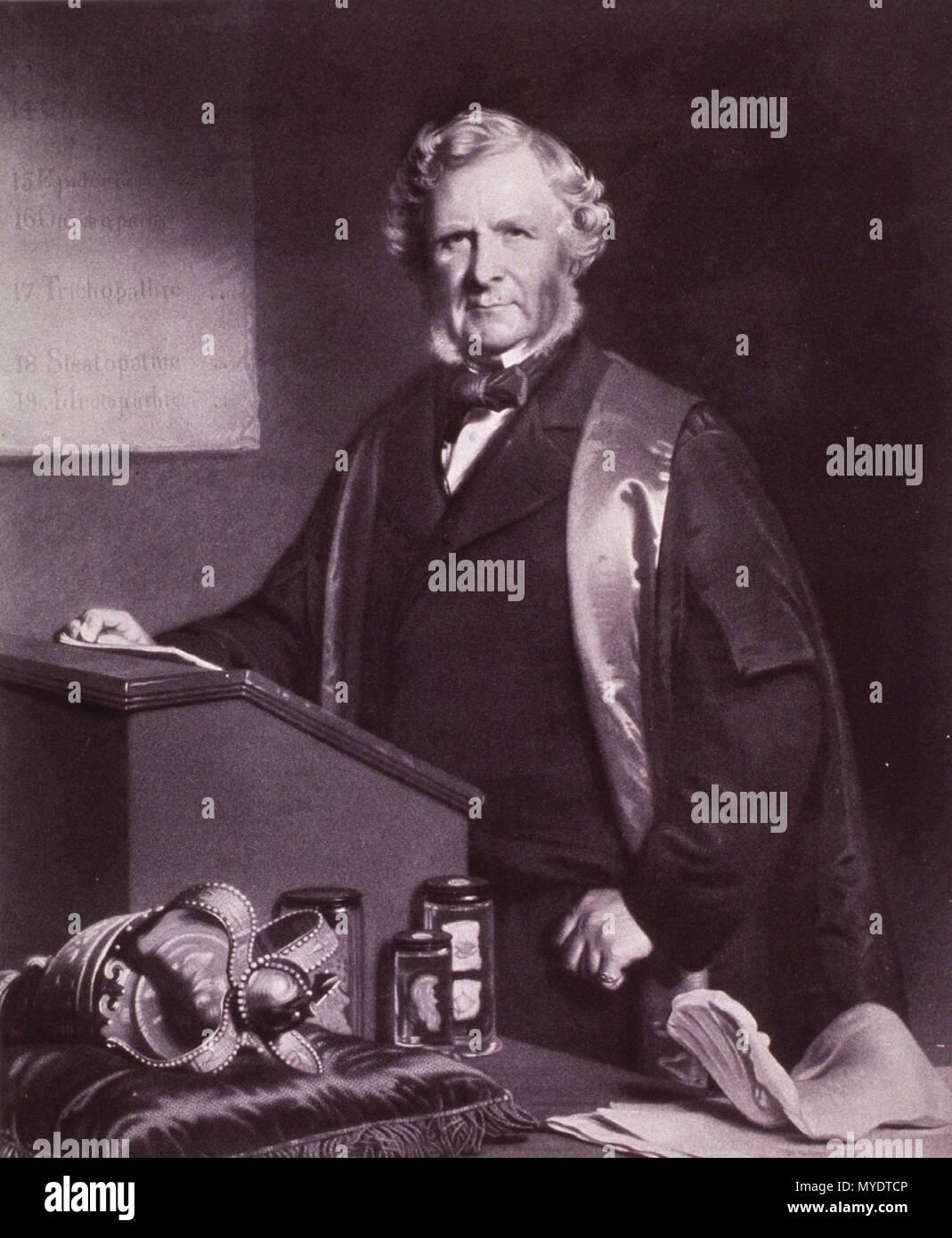 . English: William James Erasmus Wilson FRCS FRS (25 November 1809 – 7 August 1884) . circa 1873. Stephen Pearce (1819–1904). Engraved by Alexander Scott [1] 166 Erasmus Wilson 2 Stock Photo