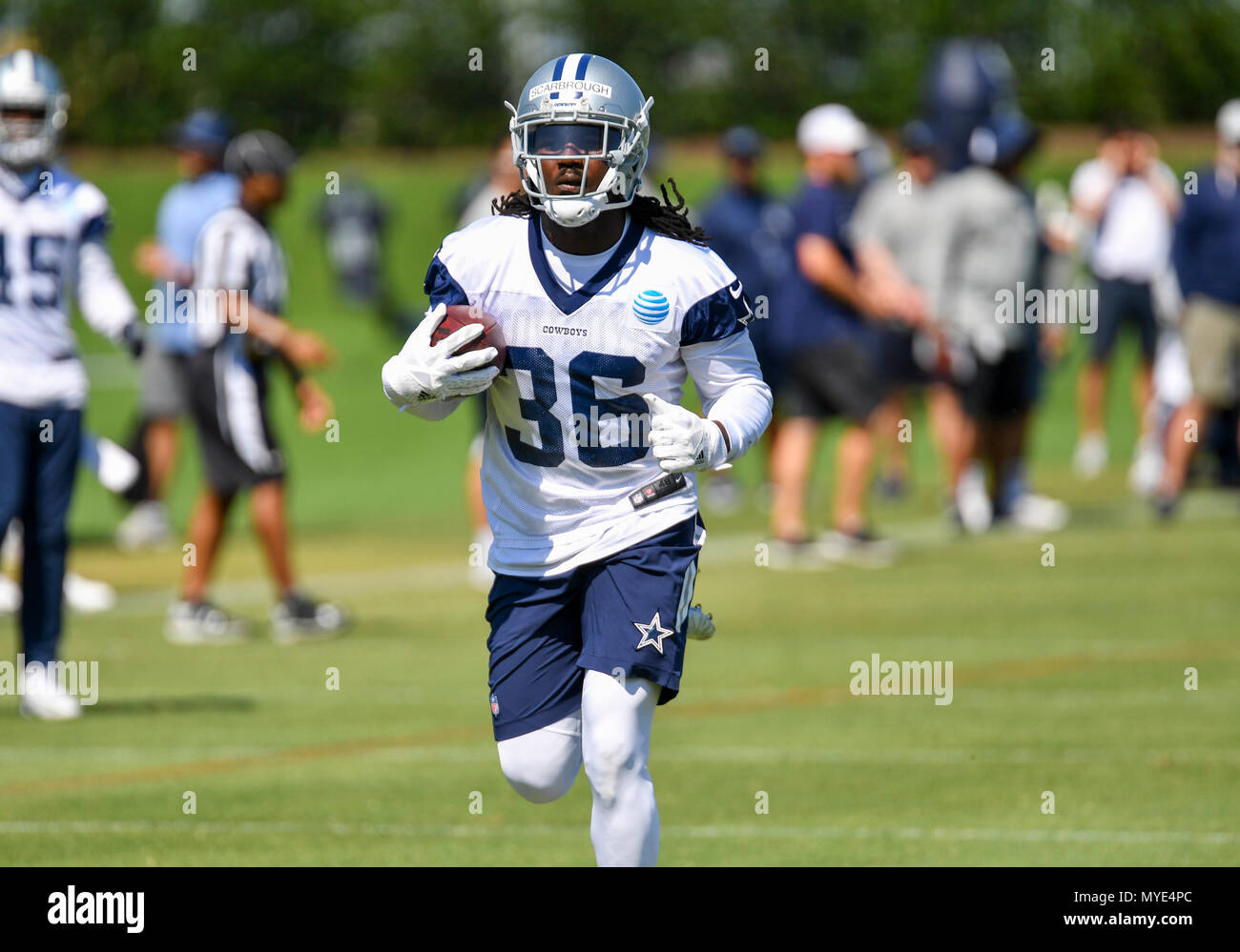 new product adbc7 9aec4 Jun 06, 2018: Dallas Cowboys running back Bo Scarbrough #36 ...