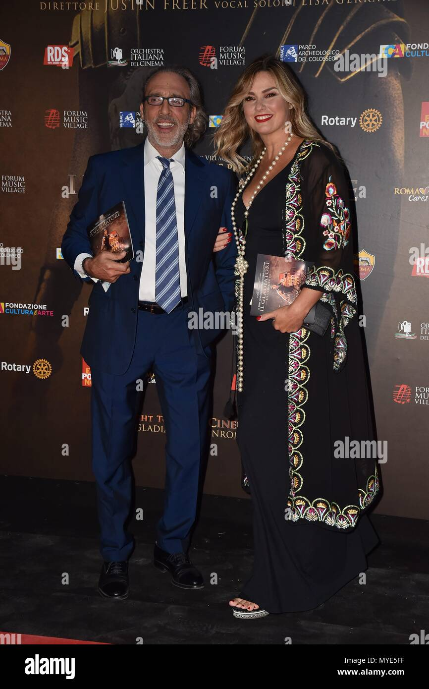Rome, Italy. 06th June, 2018. Rome, Colosseum Charity Evening The Gladiator In Concert, In the picture: Luca Ward Giada Desideri Credit: Independent Photo Agency/Alamy Live News Stock Photo