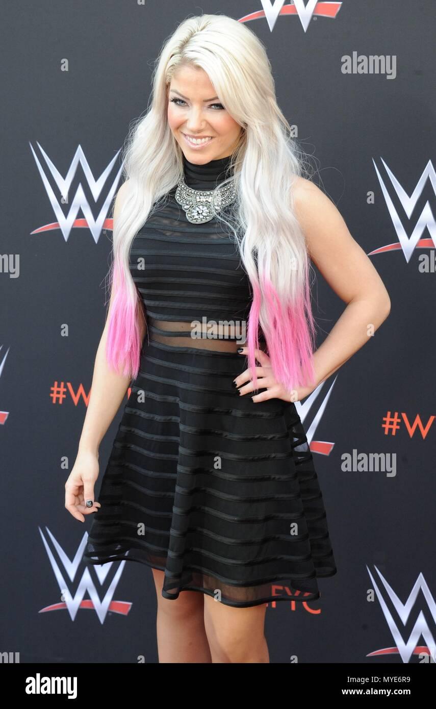 Alexa Bliss at arrivals for World Wrestling Entertainment
