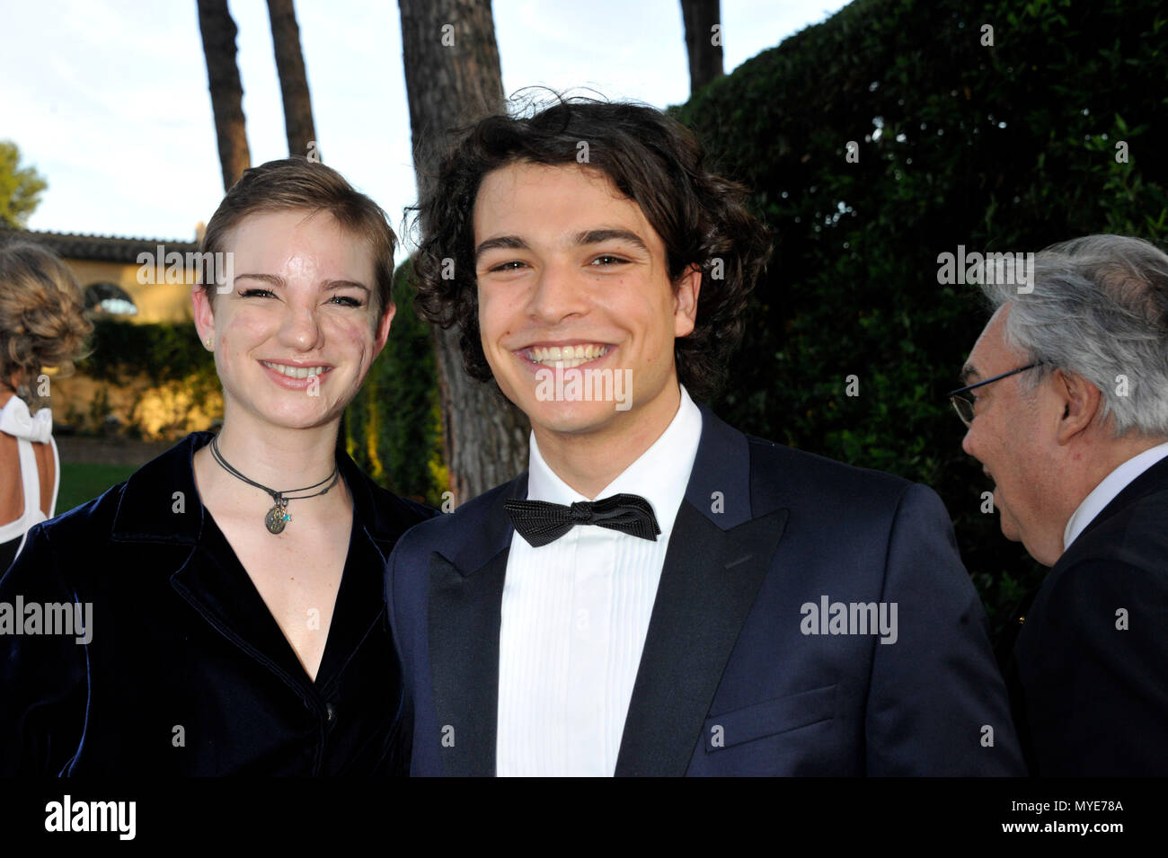 Rome American Academy In Rome Mckim Medal Pictured Gala Leo Gassman Bebe Vio Credit Independent Photo Agency Alamy Live News