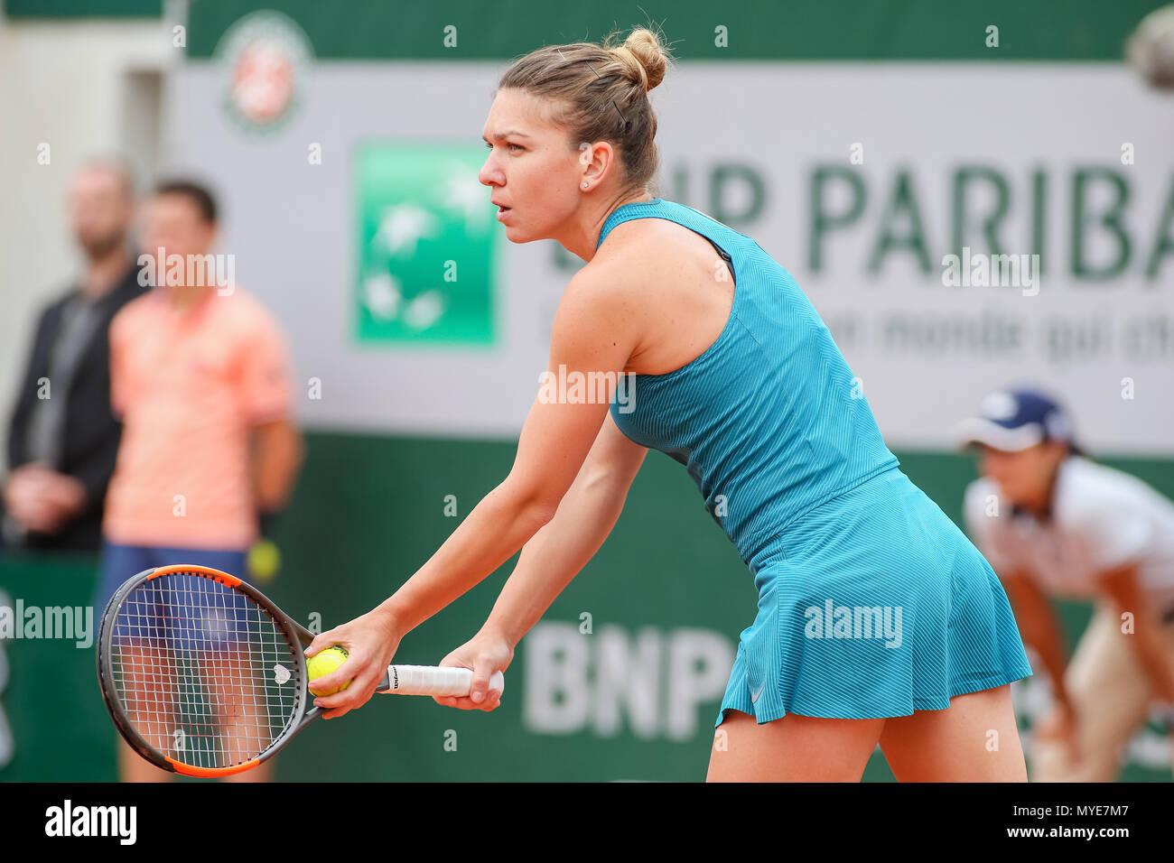 Paris France 6th June 2018 Simona Halep Rou Tennis Simona