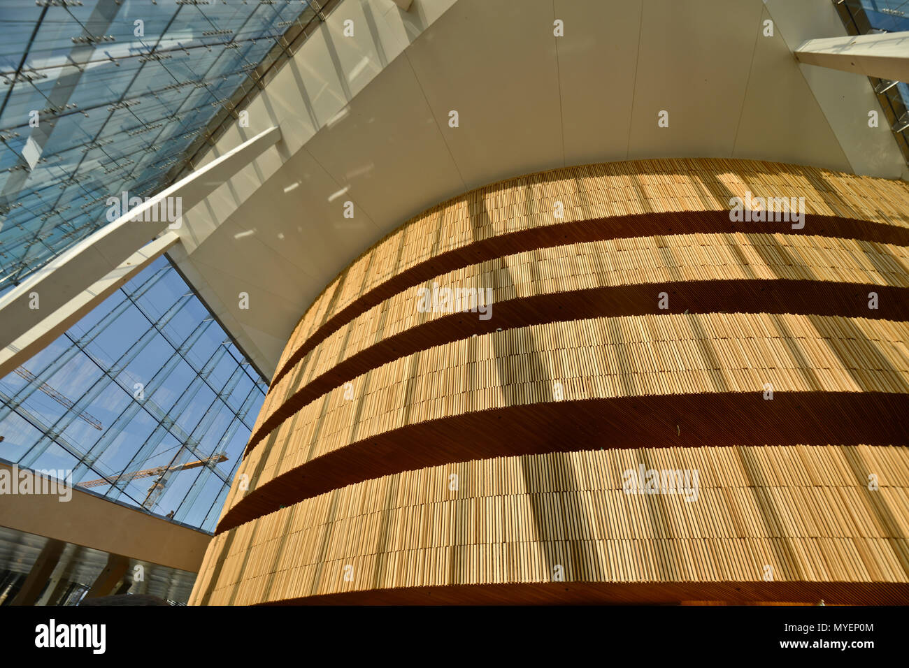 Oslo Opera House, detail from the interior, Norway - Stock Image