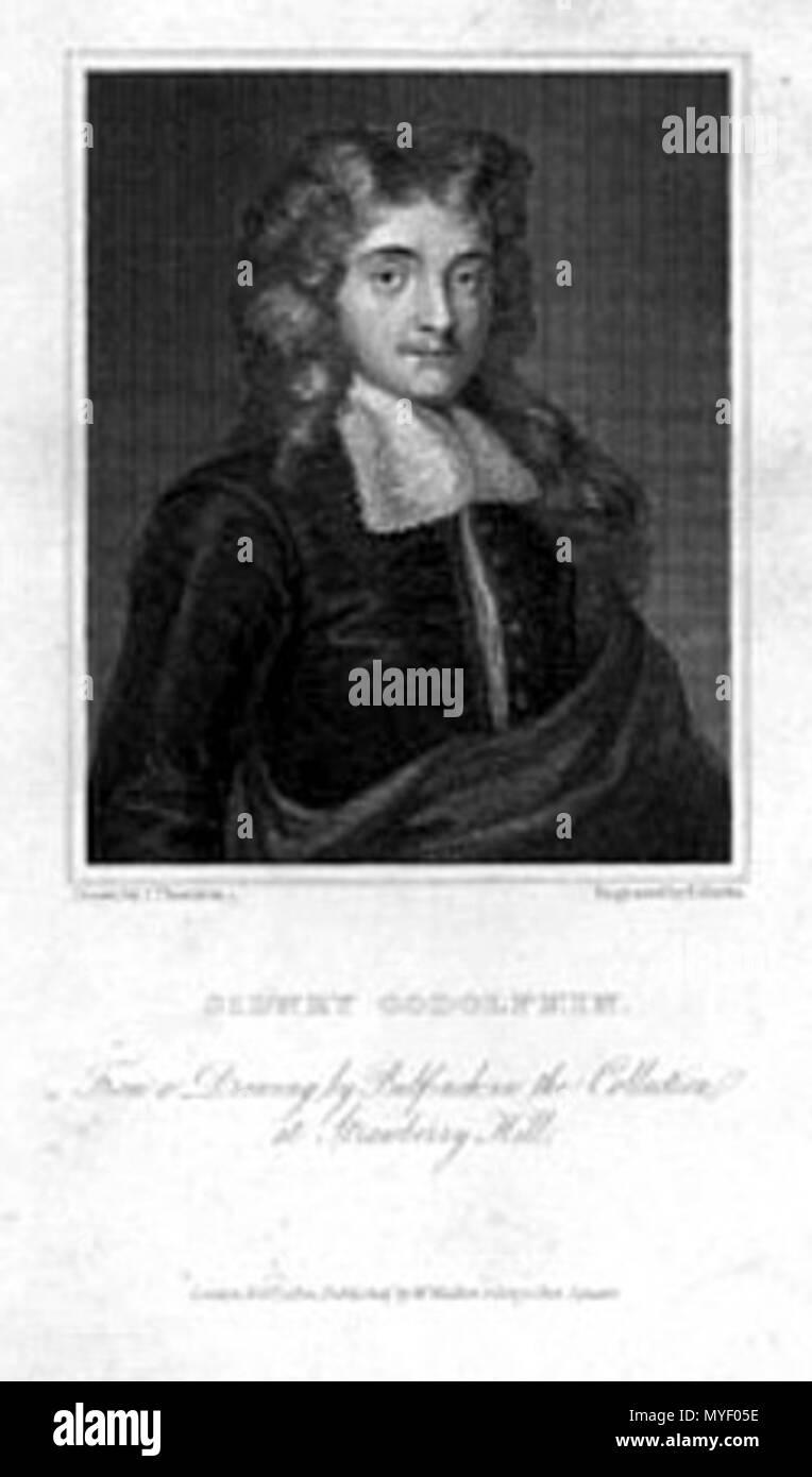. Sidney Godolphin - Poet (1610-1643) . 1822. R. Rivers after J. Thurston 215 Godolphin-Sidney-8 Stock Photo