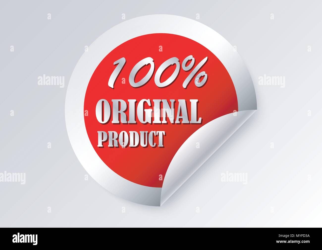 vector design of marketing label - Stock Image