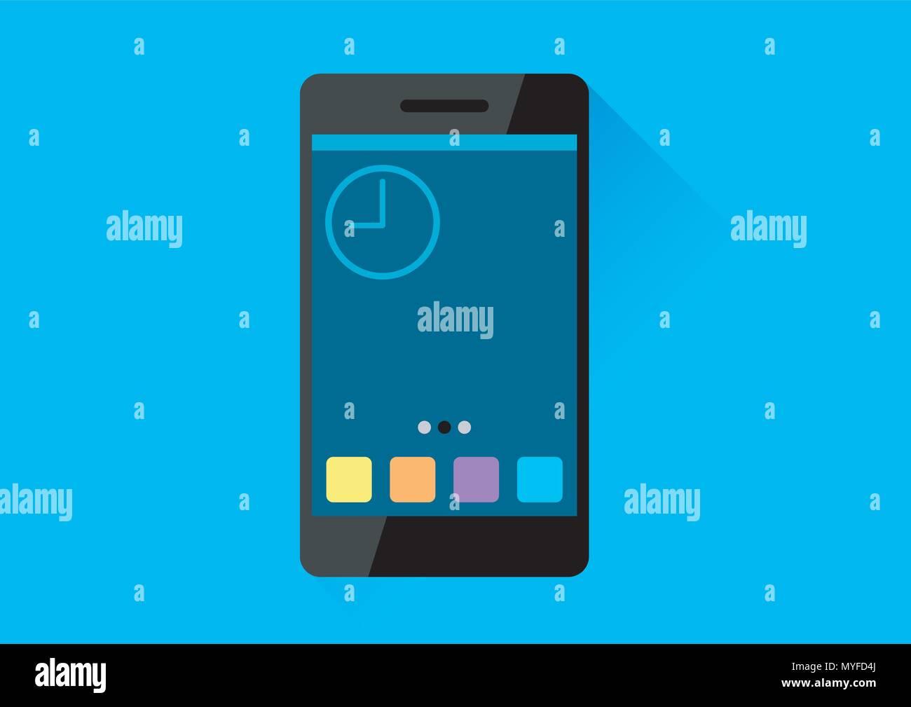 vector design of smartphone user interface Stock Vector
