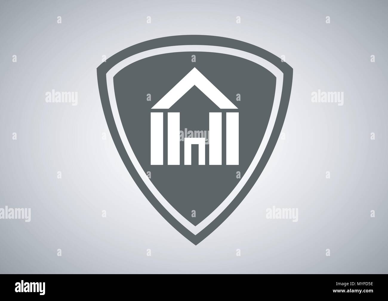 vector design of real estate logo - Stock Vector