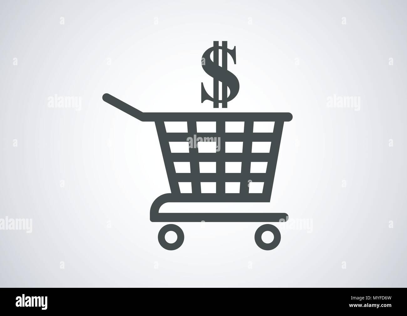 vector design of shopping cart - Stock Image