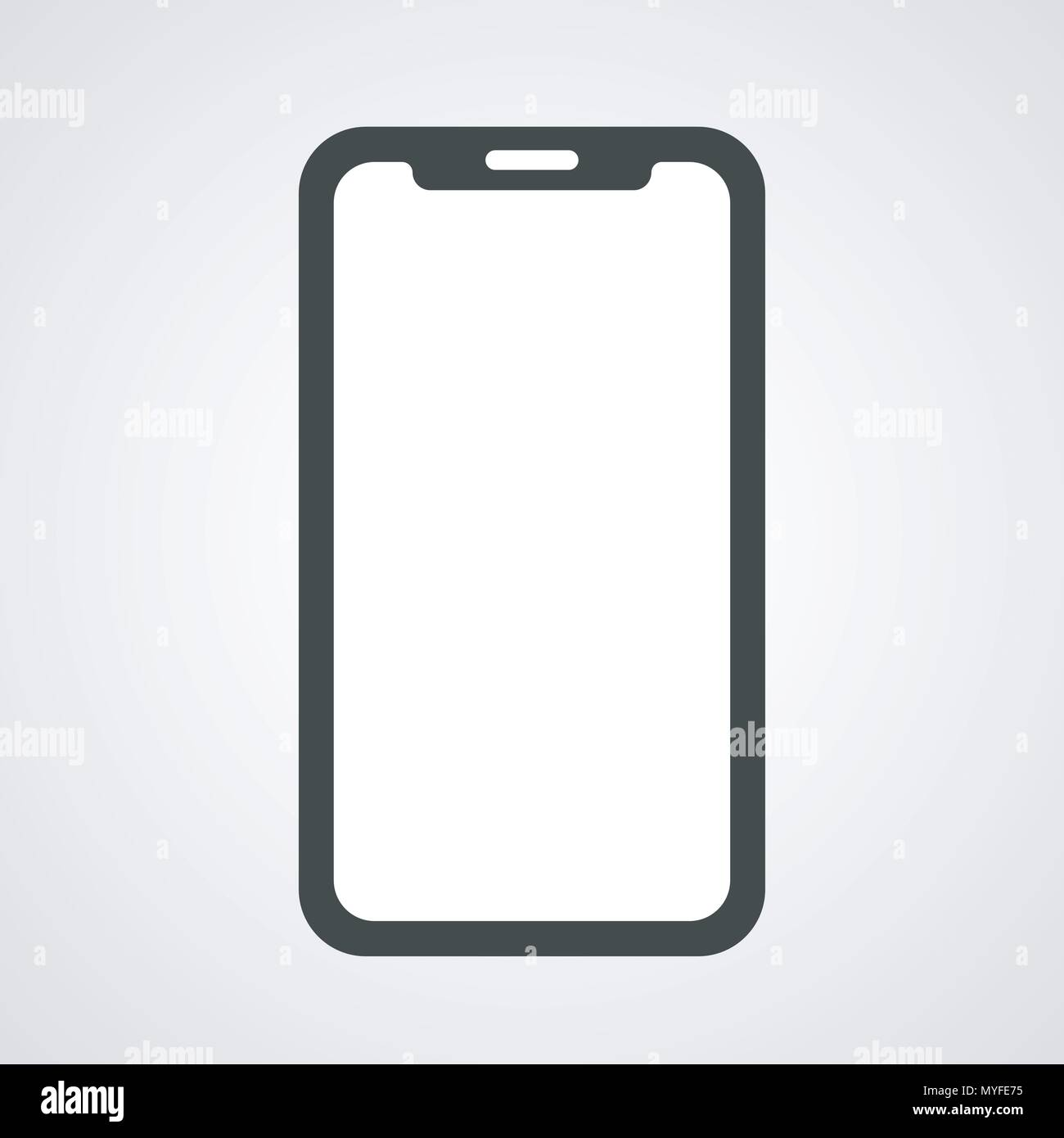 Vector Design Of Phone Blank Template