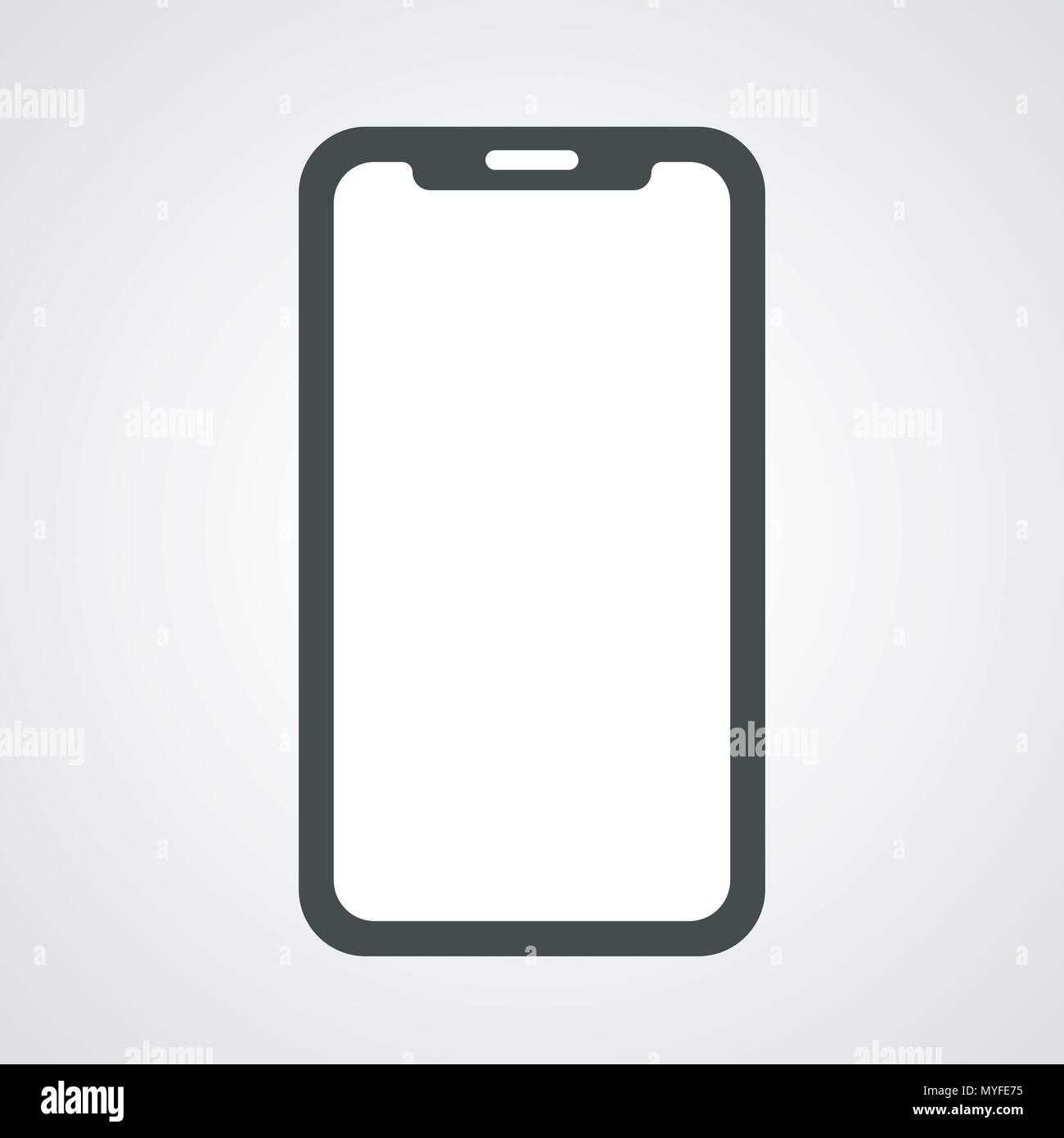 Vector Design Of Phone Blank Template Stock Vector Art