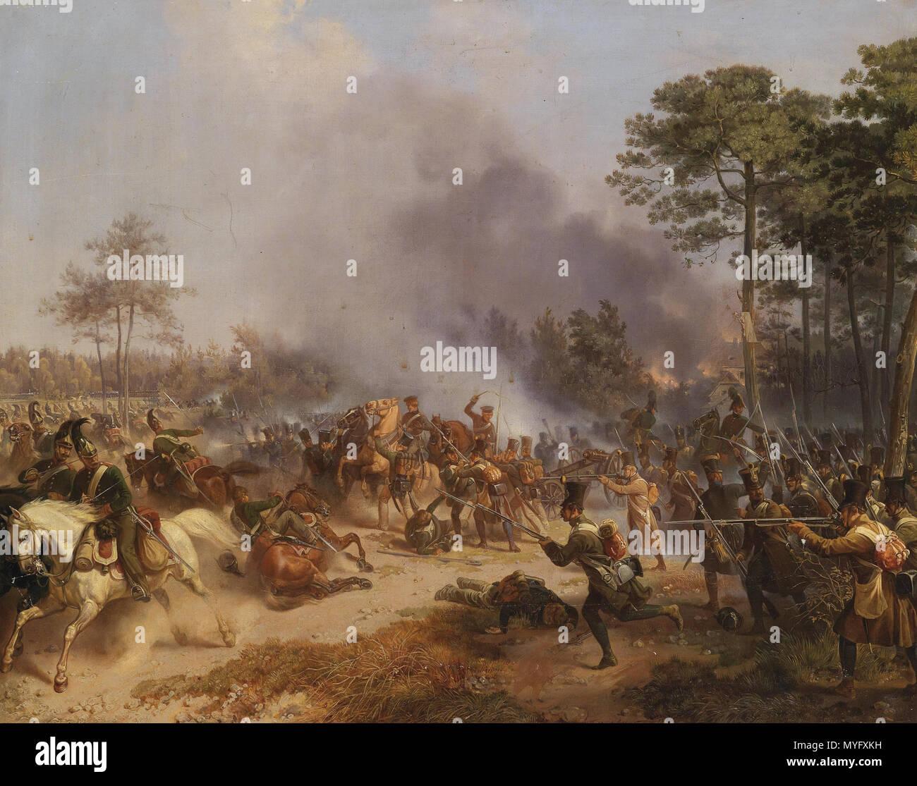 198 Friedrich L'Allemand Gefecht österreichischer Infanterie 1812 - Stock Image