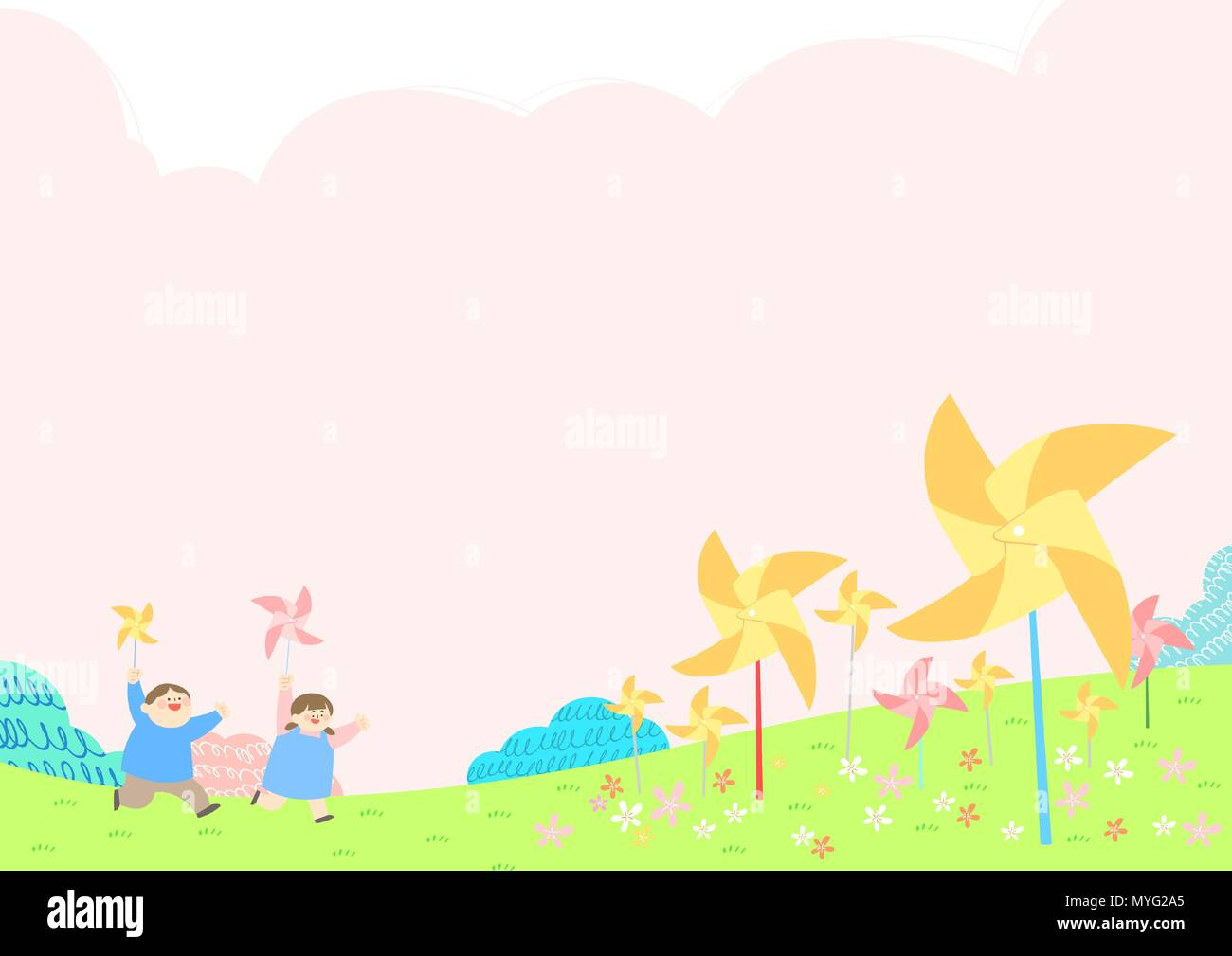 Vector - Welcome spring. Enjoy spring time illustration 011 - Stock Vector