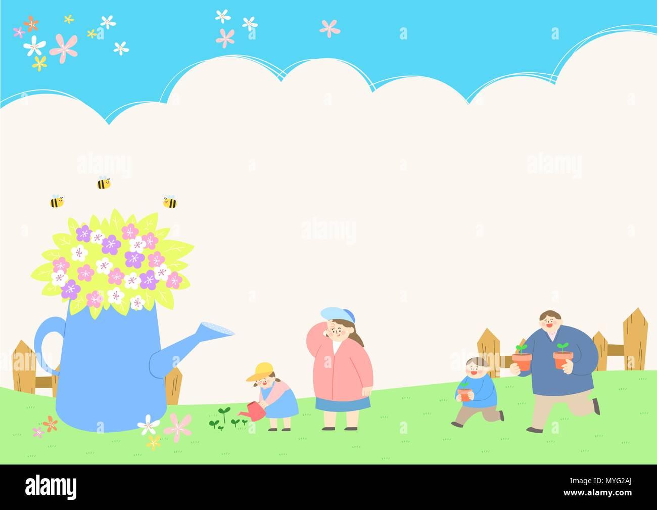 Vector - Welcome spring. Enjoy spring time illustration 010 - Stock Vector