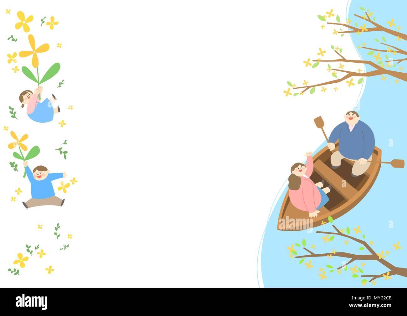 Vector - Welcome spring. Enjoy spring time illustration 007 - Stock Vector