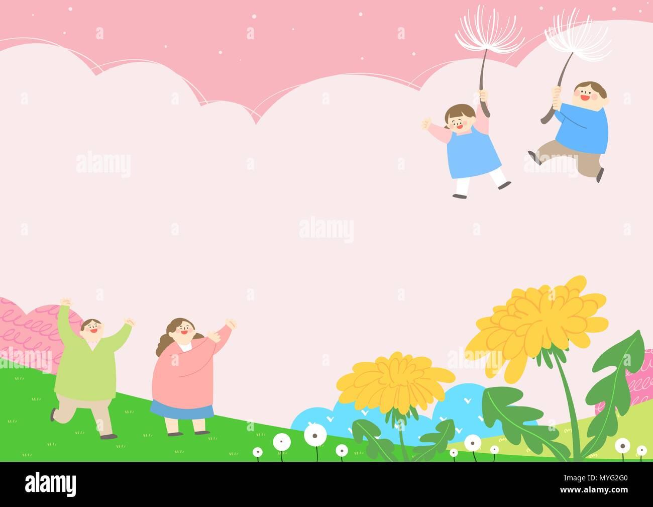 Vector - Welcome spring. Enjoy spring time illustration 002 - Stock Vector