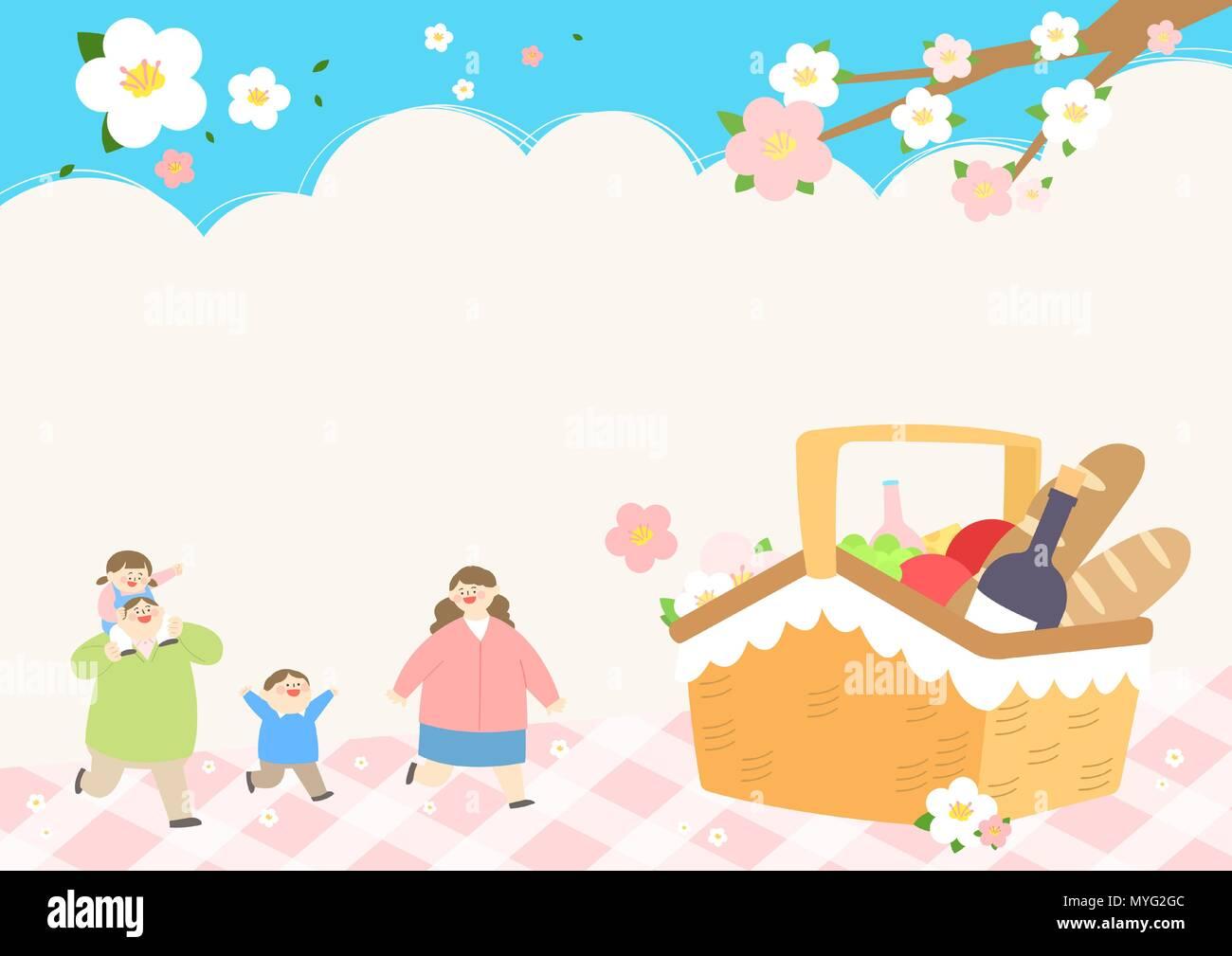 Vector - Welcome spring. Enjoy spring time illustration 001 - Stock Vector