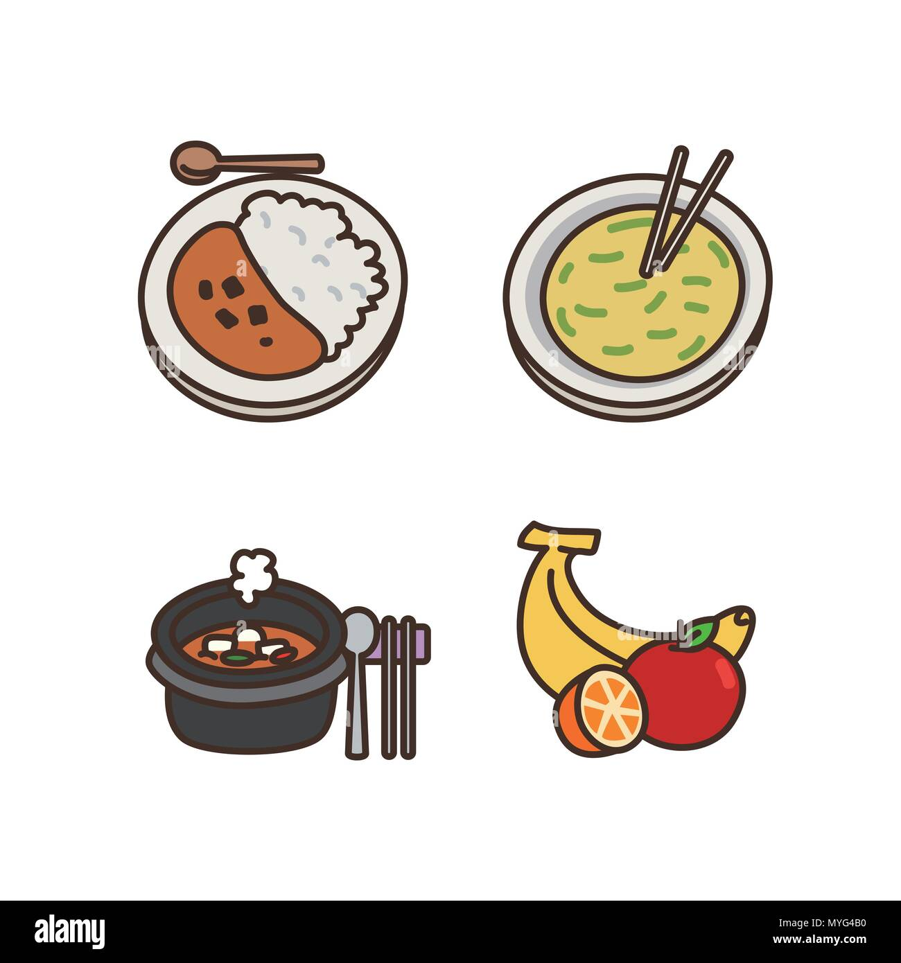 Vector - Related to life and daily flat icon set.047 - Stock Vector