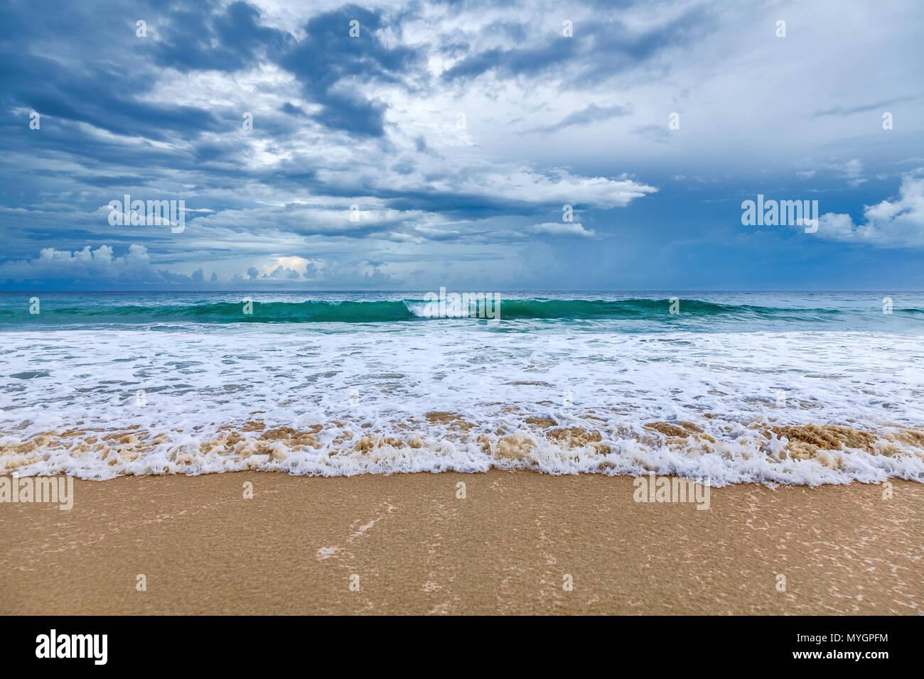 Karon Beach on Phuket Island in Thailand - Stock Image